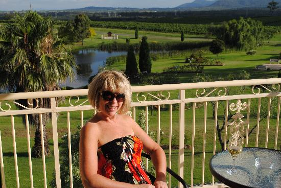 Willow Tree Estate: enjoying a wine on the balcony