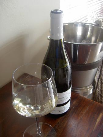 Rosendal Winery & Wellness Retreat: Standard wine cooler in the room!