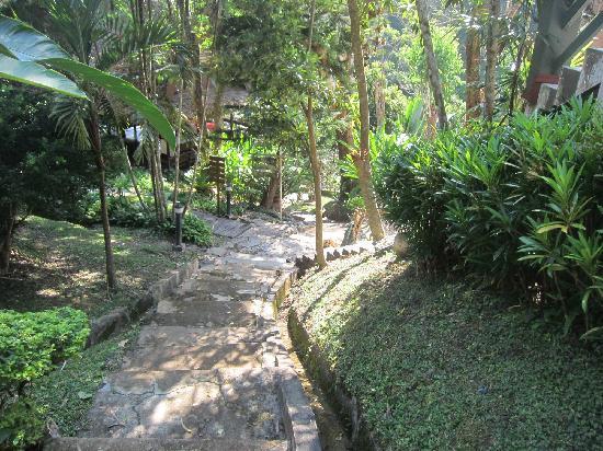 Kangsadarn Resort And Waterfall : ทางรถกอล์ฟรอบรีสอร์ท