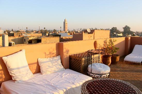Riad Anya: rooftop terrace