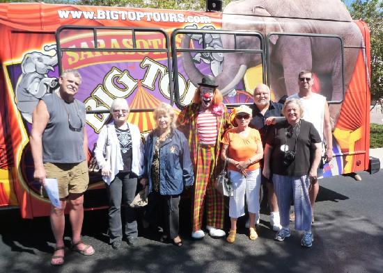 "Big Top Tours : Groups of fans enjoy seeing ""The Circus Side of Sarasota"""
