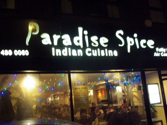 Paradise Spice: the shop front