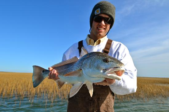 Carolina Guide Service Fishing Charters: December red thanks to Capt Jordan!