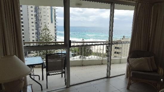Surfers Beachside Holiday Apartments: view from living room