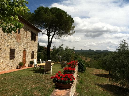 Podere Lucignano Secondo Agriturismo: Beautiful view from the back of the house