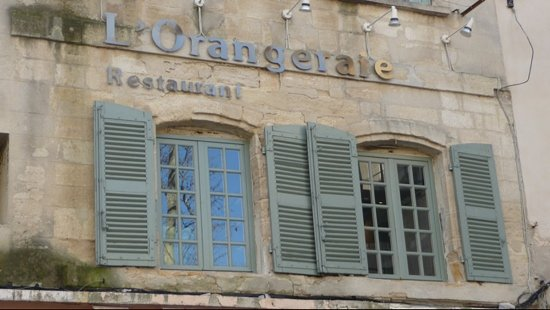 L'Orangeraie : From the outside...