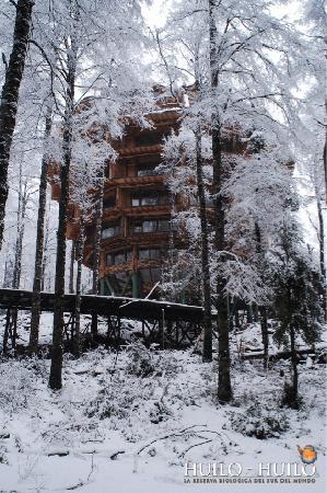 Huilo Huilo Nothofagus Hotel en invierno