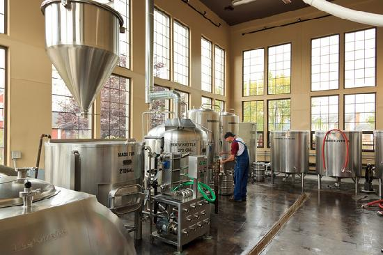 Turkey Hill Brewing Company: Check out the brewery from our overlook