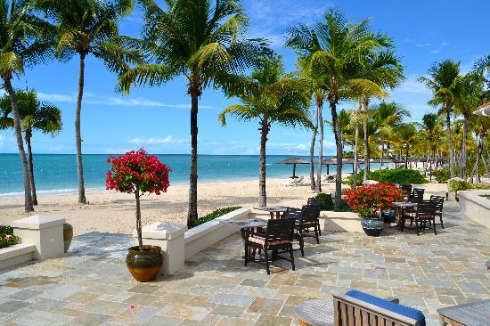 Jumby Bay, A Rosewood Resort : View of beach from Verandah