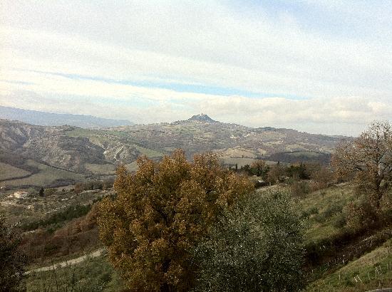 Il Poggio: Vista panoramica dal Poggio (Radicofani)