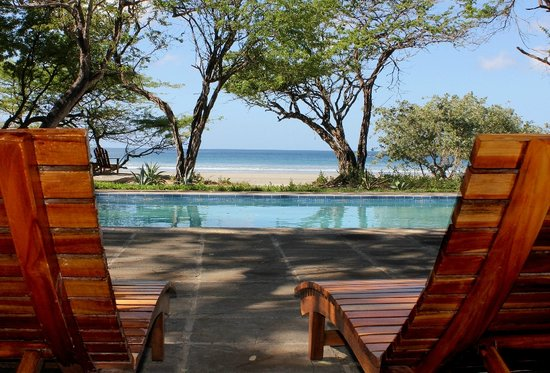 Playa El Coco, Nicaragua: The Pool and the Beach at PlayaCocoHolidays.com