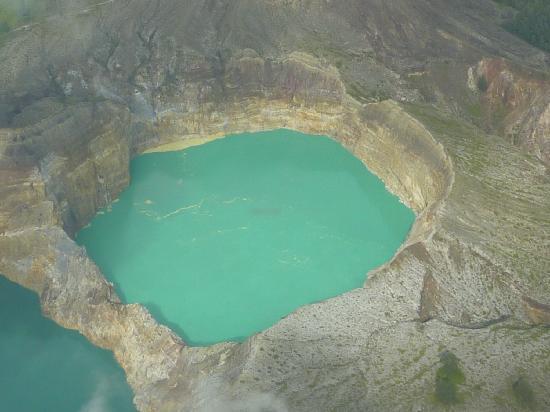 Mount Kelimutu: Kraterseen aus dem Flugzeug