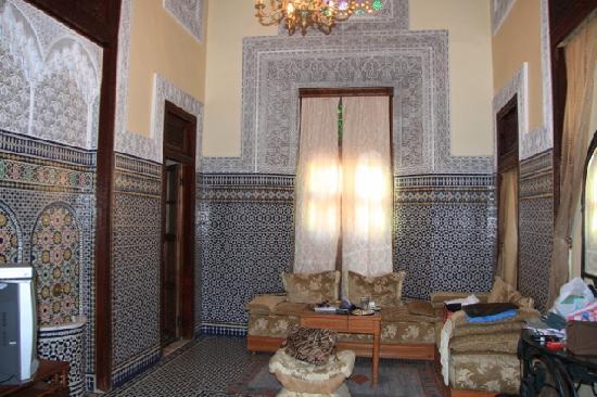 Riad Jaouhara: living room