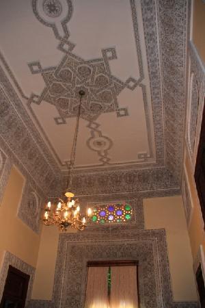 Riad Jaouhara: ceiling detail