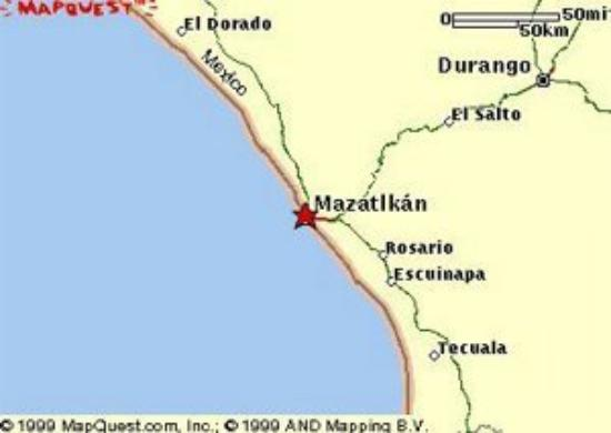 Ramada Resort Mazatlan: Map