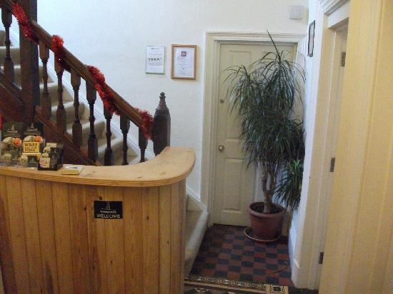 Townhouse: Reception, with Trip Advisor certificate!