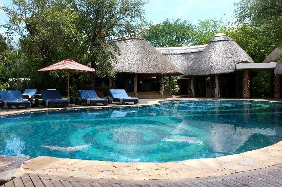 Singita Pamushana Lodge: The pool at the main lodge