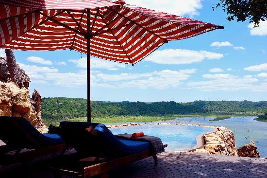 Singita Pamushana Lodge: View from the private dipping pool at Villa #1