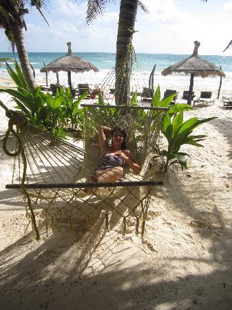 Playa Mambo: Hamaca, in front of the Green cabana