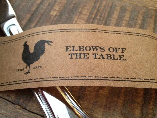 Yardbird - Southern Table & Bar : Napkin ring