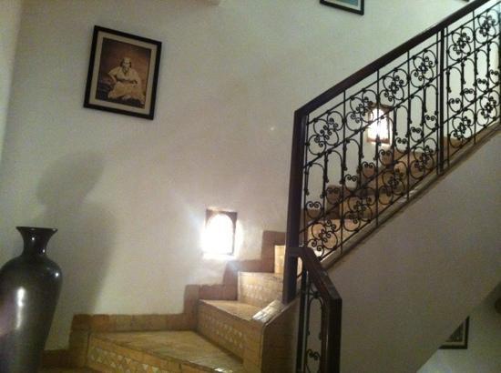 Riad Anya: escalier principal