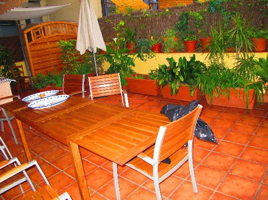 Barcelona Central Garden Hostel: The Terrace