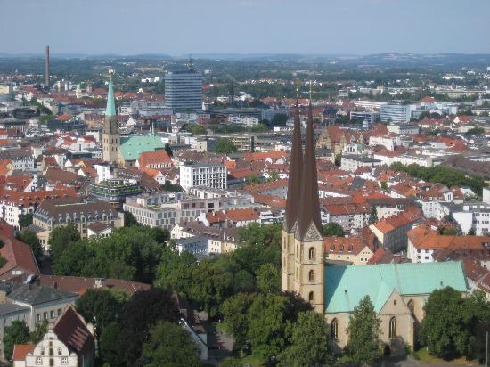 Aussicht auf Bielefeld von der Sparrenburg