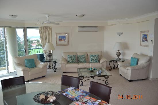 Oceana on Broadbeach: Oceana Living Room