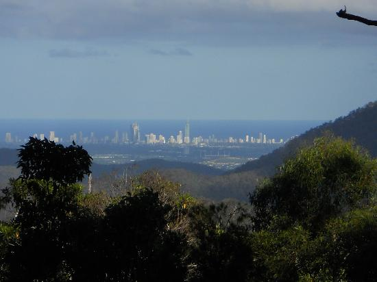Woodleigh Homestead B & B: Surfers Paradise in the distance.