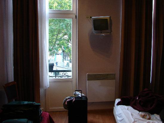 The Moon Hotel: window door
