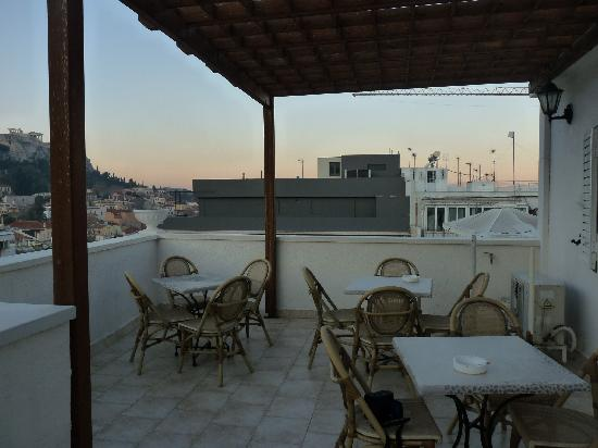 Athos Hotel: Roof terrace