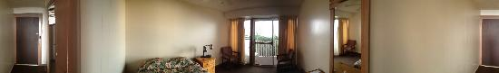 Manago Hotel: No-frills second floor room panorama.