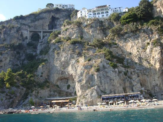 NH Collection Grand Hotel Convento di Amalfi : The beach of the hotel (you get here by free boat)