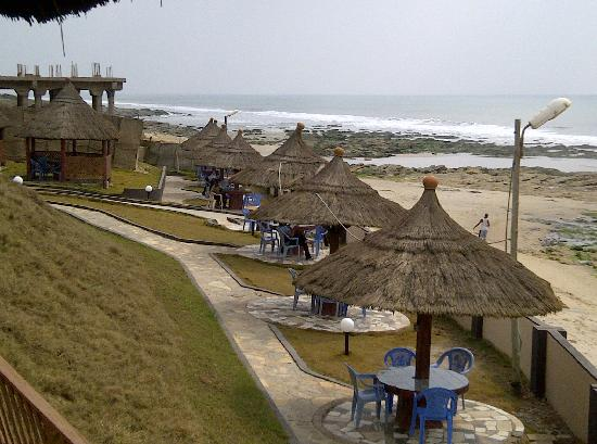 Ramada Resort Accra Coco Beach View Oceanfront Seating Area
