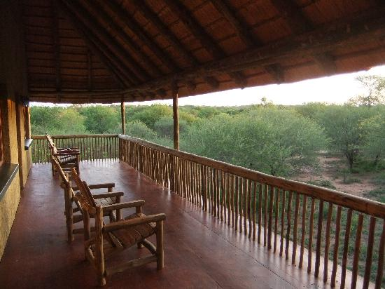 Kubu Safari Lodge: Aussicht vom Balkon