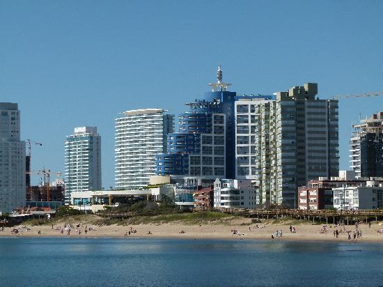 Punta del Este, Uruguay: Playa Mansa - Vista Ciudad