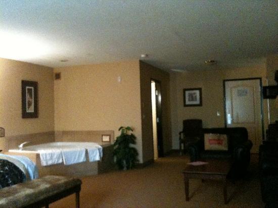 The Grand Hotel in Salem: Blick vom Schreibtisch Richtung Eingang