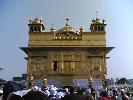 Goldener Tempel (Hari Mandir): In the queue, close to entry