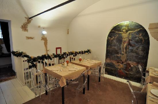 Il Convento dei Fiori di Seta: L'area soppalcata per la colazione