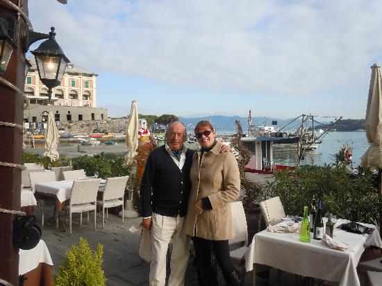 Da Iseo: Photo of view from restaurant with the proprietor!  He was such a hoot!