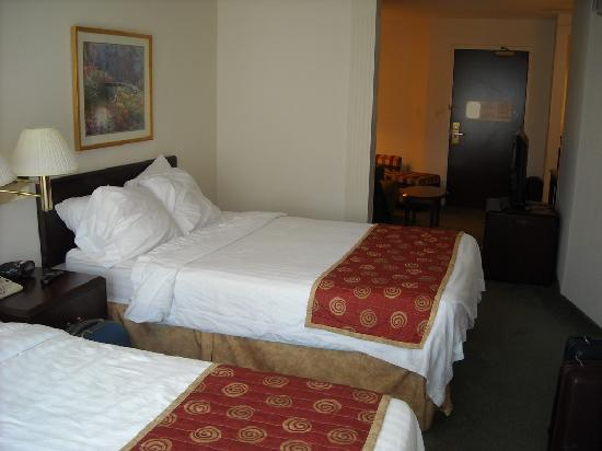 SpringHill Suites Seattle South/Renton : beds with privacy wall