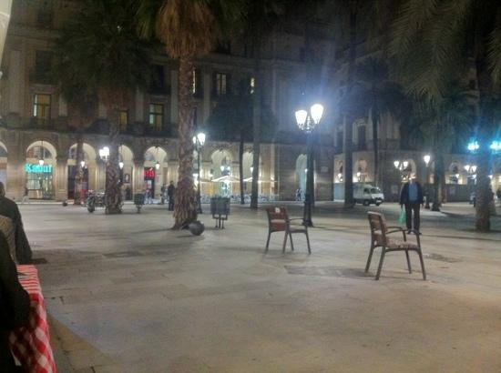 Barcelona, Hiszpania: Placa Reial