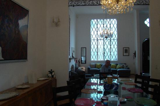 Casa Comtesse: Main Hall/Breakfast Room