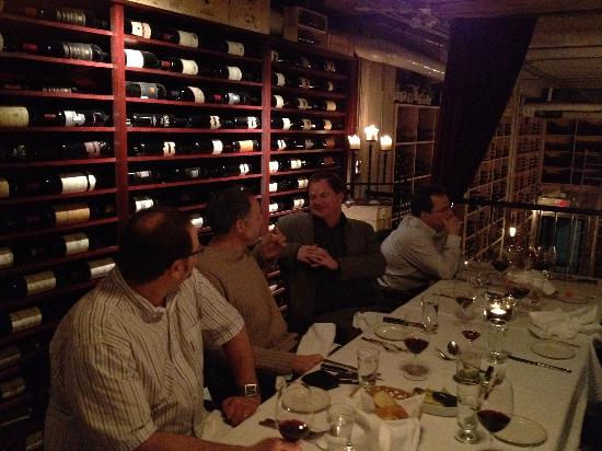 Barberian's Steak House: Dining in the wine cellar