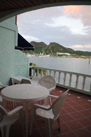 HBK Villas: Balcony overlooking the marina