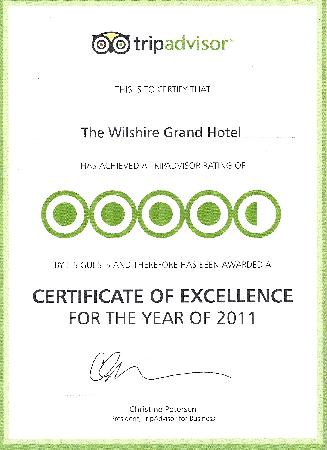 The Wilshire Grand Hotel: Lobby Certificate