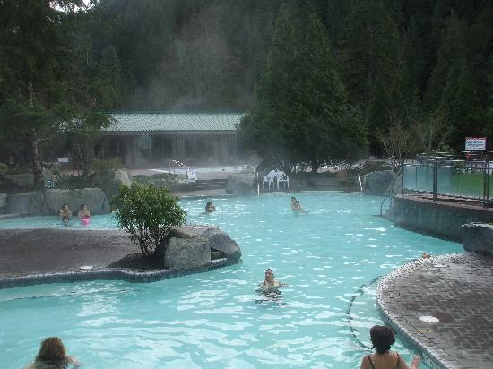 Steaming therapeutic pools - Picture of Harrison Hot Springs Resort & Spa...