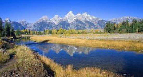 The Lexington at Jackson Hole Hotel & Suites: Grand Tetons from Schwabacher Landing