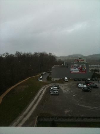 vista dal 3 piano dall hotel ibis fribourg
