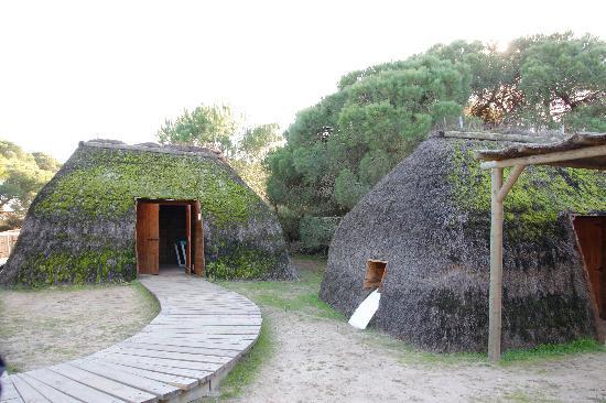 Donana Nationalpark: las casas antiguas típicas en Doñana